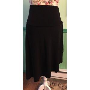 Amy Byer Asymmetrical Black Skirt M